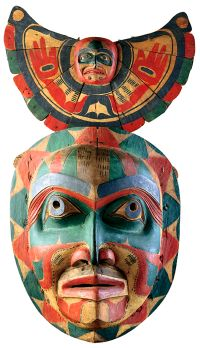 ancient                         american indian mask