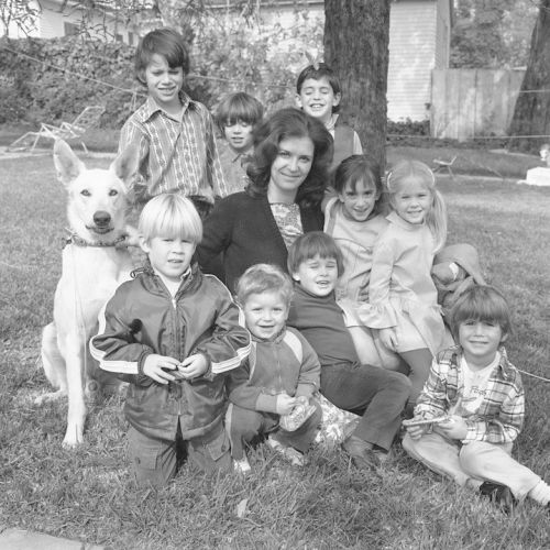 Anita, her kids and                           neighbor kids