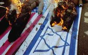 BURN BOTH FLAGS, AMEICAN and JEWISH