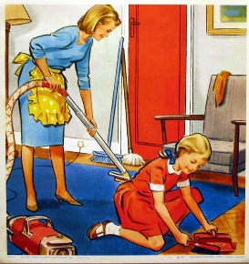 FAMILY CLEANING HOUSE, an article on                             HOW TO CLEAN A HOUSE PERFECTLY
