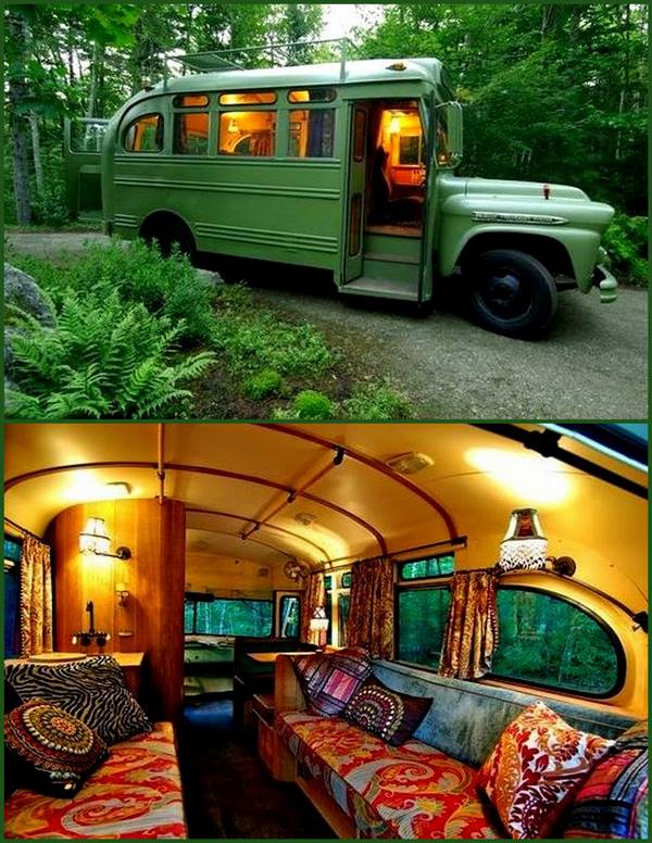 How to live on the road; how to fix an old                         school bus into a mobile home; how to live in a                         bus.