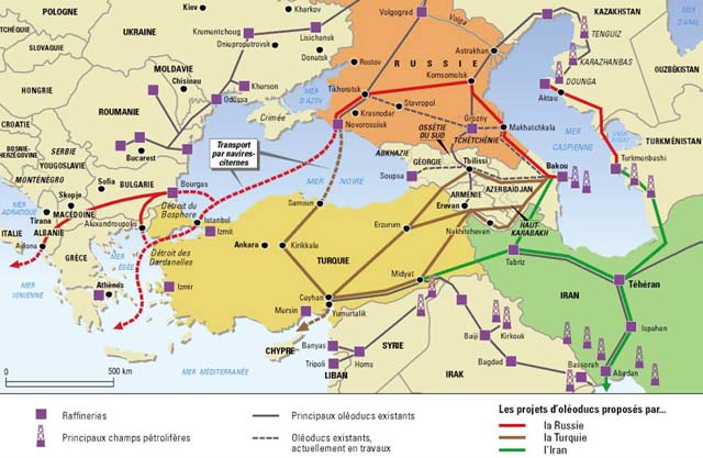 OIL                       ROUTES to get RUSSIAN OIL OUT