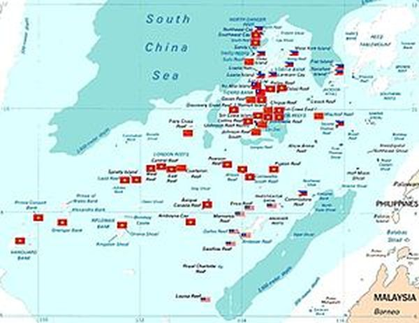 flag color indicates which country can drill oil from               VIETNAM.