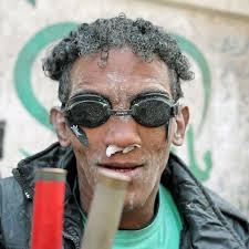 tear gas victim in egypt