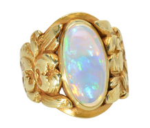 A genuine, antique TIFFANY opal ring, for sale, l0k
