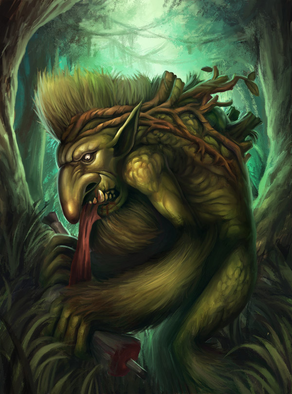 magic beast in the forest, the troll that                           does propaganda for fascism
