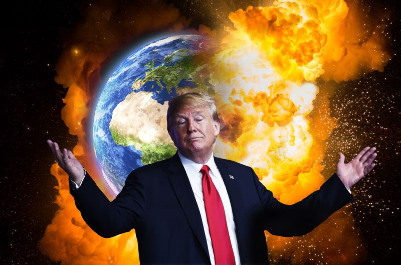 TRUMP SHRUGS OFF the danger of ROCKETMAN                           & NUCLEAR BOMBS from KOREA