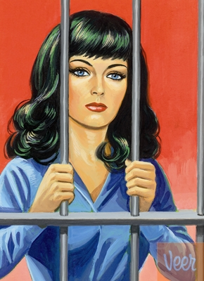 great picture of a woman behind bars from the jailpoorindex by anita sands